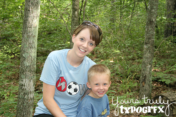 Hiking during one of our many camping trips