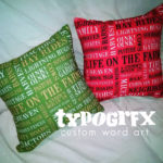 Life on the Farm pillow #designercollection #typogrfx by Tosha Jackson