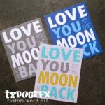 Love you to the moon and back - canvas mini - TYPOGRFX by Tosha Jackson